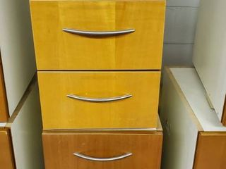 (2) 3 Drawer Wood Cabinets