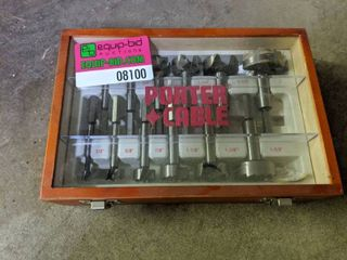 12 Piece Porter Cable Forstner Drill Bits