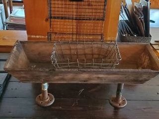 Rustic Planter  Wire Basket