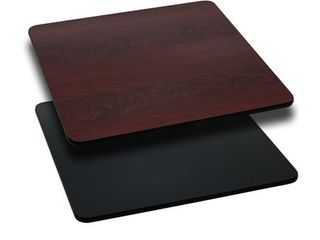 Flash Furniture 36  Square Table Top with Black or Mahogany Reversible laminate Top