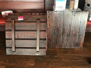 5  25in x 25in Barn Wood Table Tops No Bases