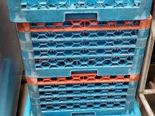 Dish Crates With Cart