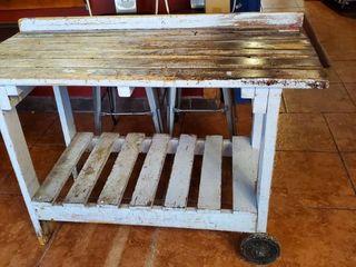 Rustic Wood Cart