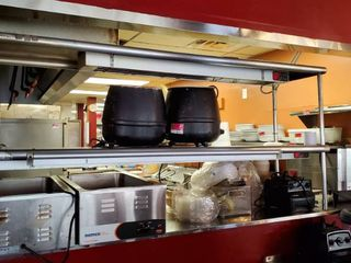 Stainless Shelving With Ticket Rail  Heat lamps