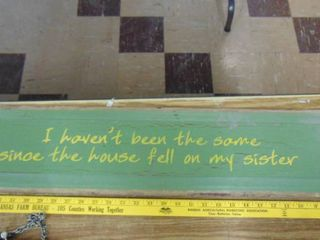 Wooden sign Sister