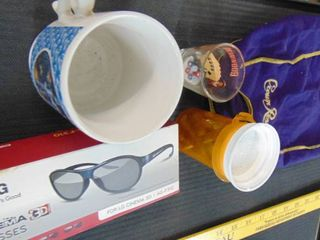 lG 3d glasses   wizard of OZ cups   crown royal bag   ammo