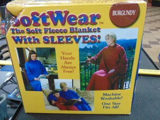 Adult snuggie   burgundy