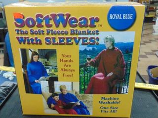 Adult snuggie   blue