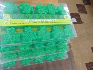 4 sets of shamrock lights