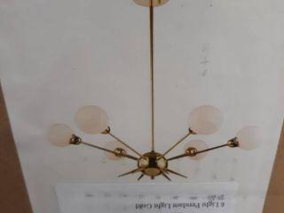 6 light Pendant light Gold