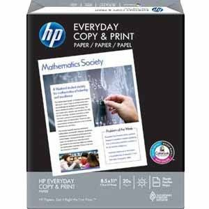 HP Everyday Copy and Print Paper  8 1 2 x 11 Inches  92 Bright  500 Sheets Ream  200060