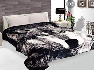 Best Hiyoko Wild Animal Wolf Print Blanket Throw Bedspread Comforter Cover Bed