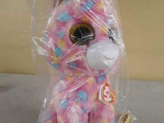 Golden Pink Stuffed Unicorn Toy