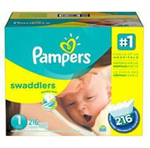 Pampers Swaddlers Diapers Economy Plus Pack Size 1  216 Count