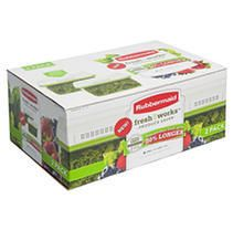Rubbermaid 17 3 Cup FreshWorks Produce Saver  large  Green   2 Pack