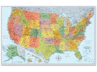 Advantus Rand McNally U S  Wall Map