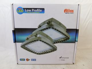 Lot of 2x Atlas PGM25LED Lighting Fixture LED Parking Garage 120-277VAC 25 Watts