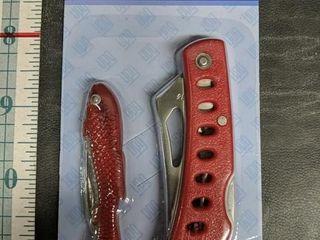 Brand new two-piece pocket knife