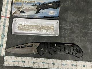 Whitetail cutlery gentle folder pocket knife