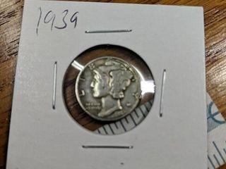 1939 Mercury dime