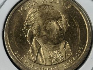 John Adams presidential $1 coin