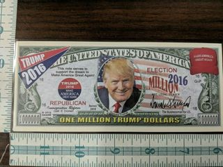 1 million Trump dollars 2016