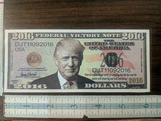 Federal victory note 2016 Donald Trump