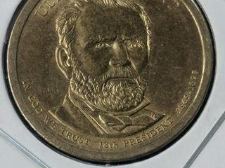 Ulysses S Grant presidential $1 US coin