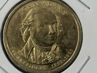 John Adams presidential coin US $1