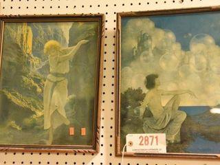 Lot #2871 - (2) Art Deco Maxfield Parish prints