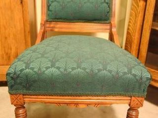 Lot #2876 - Victorian side chair upholstered