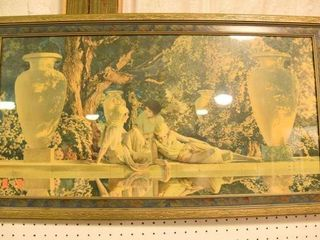Lot #2877 - Art Deco Maxfield Parrish print.