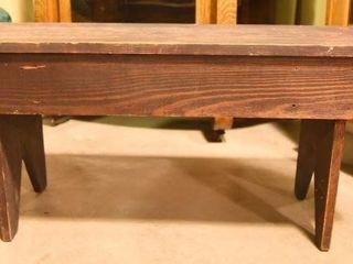 Lot #2880 - Primitive style wood bench. Measures