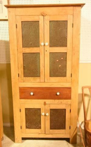 Lot #2881 - Primitive style jelly cupboard with