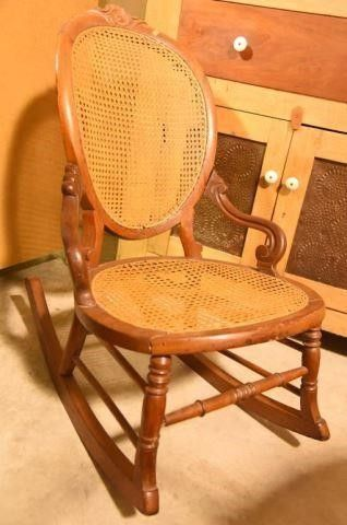 Lot #2882 - Antique Victorian caned seat and