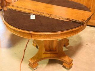 Lot #2888 - Antique Mission style oak round top