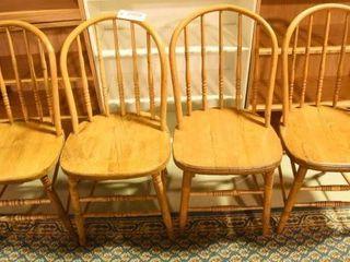 Lot #2889 - Set of 4 Antique oak hoop back side