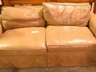 Lot #2891 - Leathercraft sofa. Measures