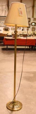 Lot #2896 - Stiffel brass floor lamp. Label on