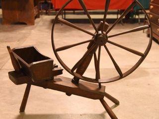 Lot #2901 - Antique 19thC primitive spinning