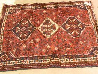 Lot #2903 - Older Oriental rug with fringed ends