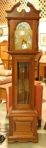 Lot #2905 - Emperor grandfather clock. Measures