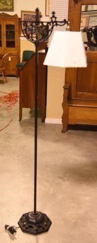 Lot #2906 - Vintage cast iron bridge floor lamp
