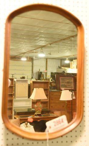 Lot #2864 - Mahogany mirror. Measures