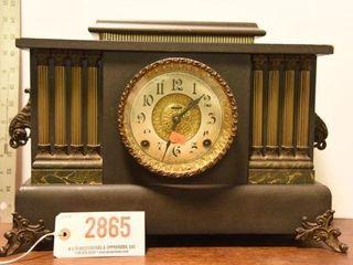 Lot #2865 - Antique Ingraham mantel clock. Comes