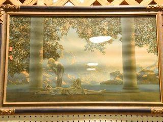 Lot #2867 - Art Deco Maxfield Parrish print.