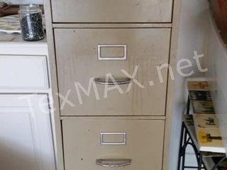 Metal 4 Drawer Filing Cabinet with Key