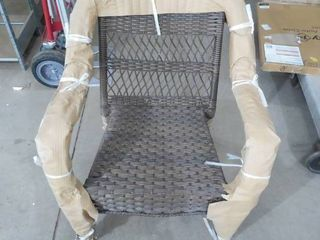 Stackable Brown Resin Wicker Outdoor Patio Lounge Chair
