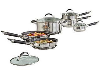 10-Pc. Stainless Steel Cookware Set