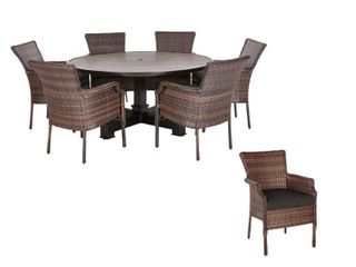 Grayson Brown Outdoor Patio Dining Table